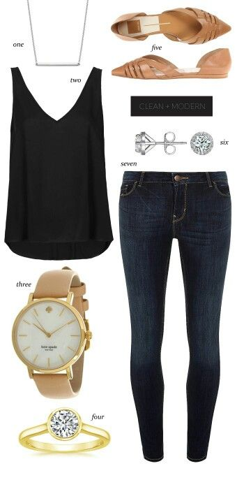 Really cute simple going out outfit. Love the style shirt and the watch