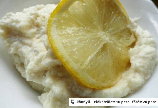 Citromos zellerkrém 500 g zeller 1 tk só 0.5 teáskanál cukor 4 ek majonéz bors ízlés szerint 0.5 citromból nyert citromlé