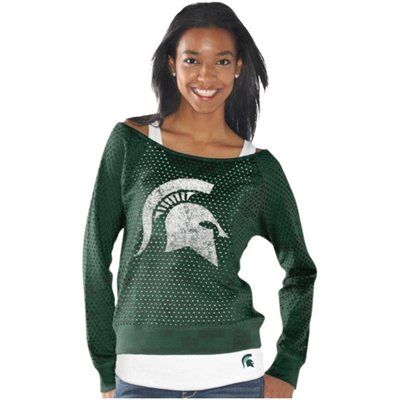 Michigan State Spartans Ladies Holy Sweatshirt Long Sleeve T-Shirt & Tank Top Set