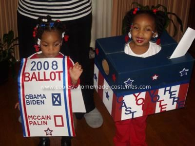 A voting ballot costume - cute in a Presidential Election Year