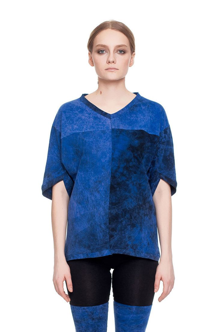 Relaxed fit T-shirt, blue acid wash    #mariashi #fashion #russiandesigners #nofilter #outfit #outfitoftheday #outfits #outfitpost #clothes #fashionista #fashiondesigner #shopping