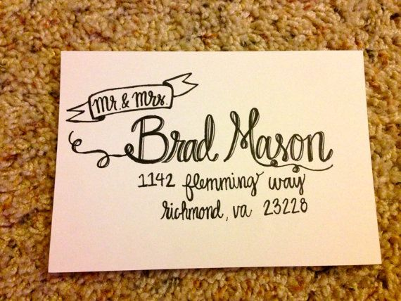 Best 25 Calligraphy Envelope Ideas Only On Pinterest