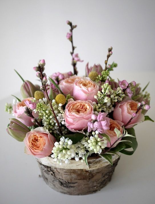 fleurs de pecher - lilas - rose - tulipe: