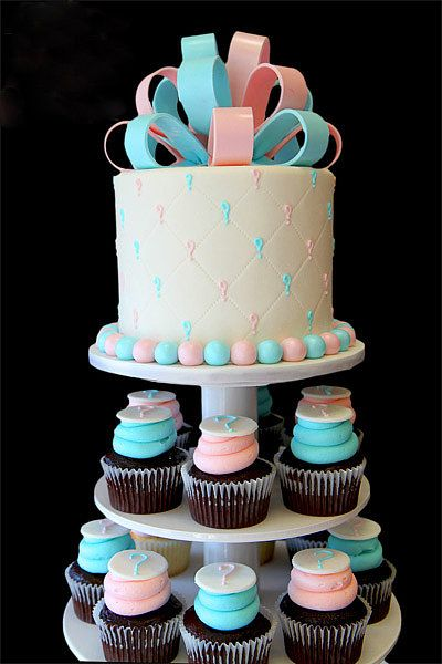 Gender Reveal Party Cakes | Pastel revelador de género. ¿Niño o niña?