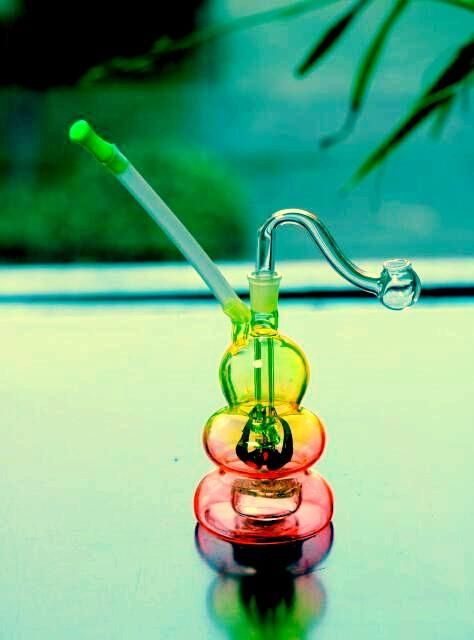 MINI 15cm Tall Colorful Glass Bongs Cheap Glass Water Pipes Bong With Joint Size 10mm Headshower Gourd Shape Free Ship Glass Pipe Online with $12.07/Piece on Cheersmoking's Store | DHgate.com