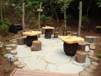 log seats and tables eyfs