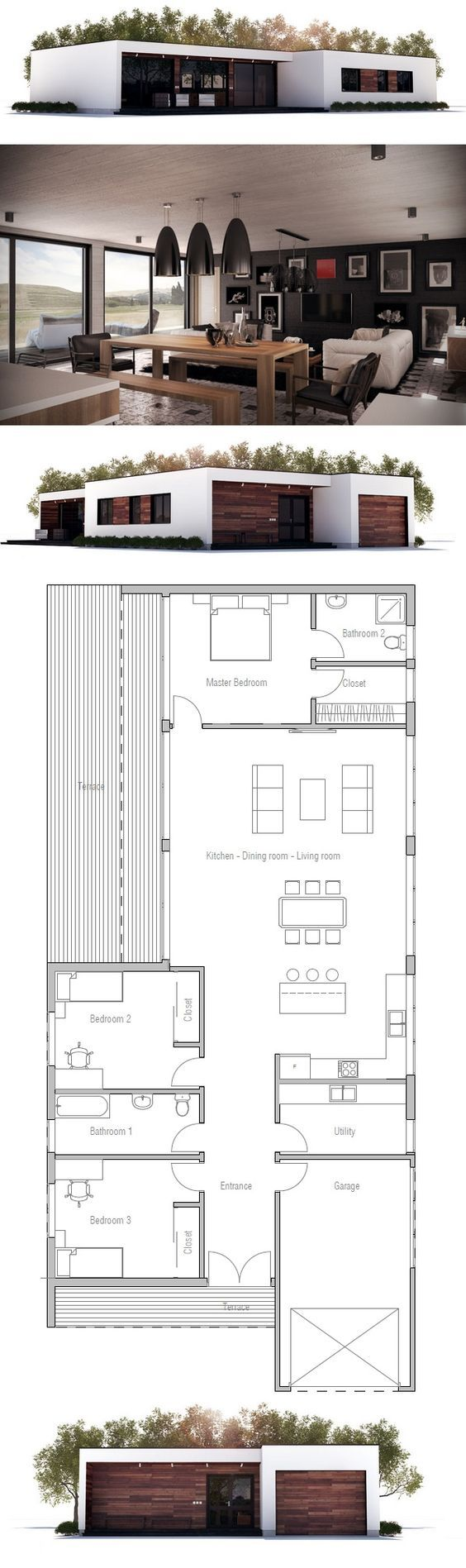 81 best planos casas images on pinterest small houses house utility room in the front narrow house plan new home minimalist house design