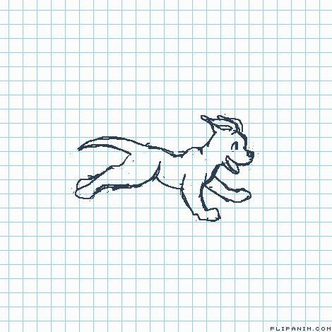 Puppy running by The Scribbs #gif #anim #animation #flipanim #flipbook #drawing #draw