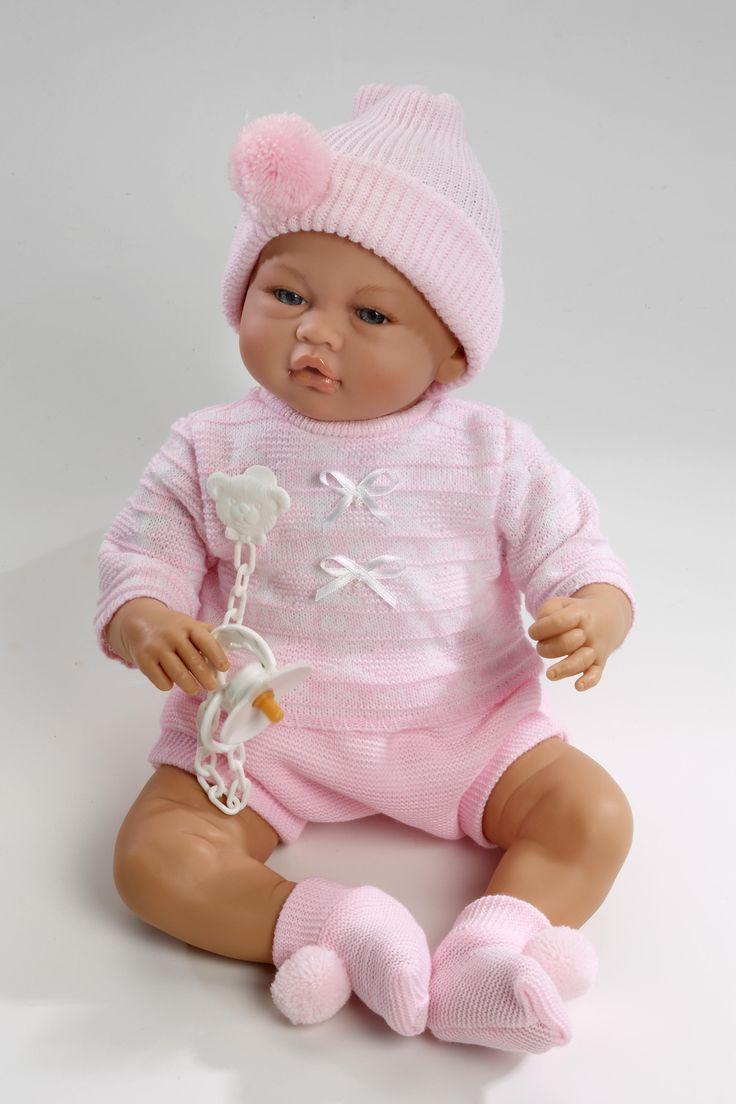 Realistické miminko - holčička - Vera v růžové čepici od firmy Guca ze Španělska