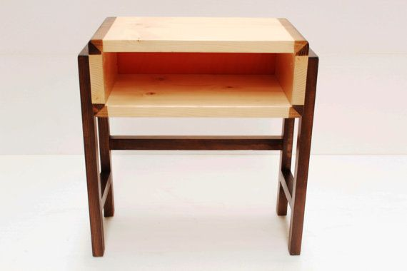 handmade bedside table.retro mid century by craftworksfurniture