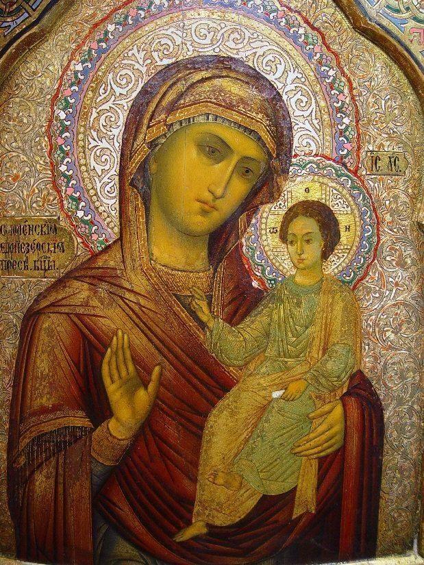 Седмиозерная икона Божией Матери неизвестен, Public Domain
