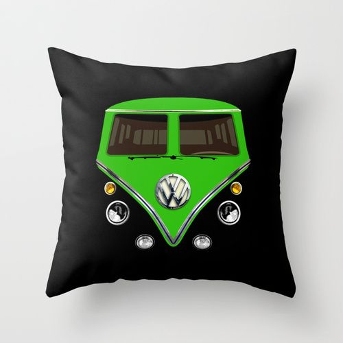Throw Away Pillow Cases : VW Volkswagen Green Double Side Decorative cushion Pillow Case 20