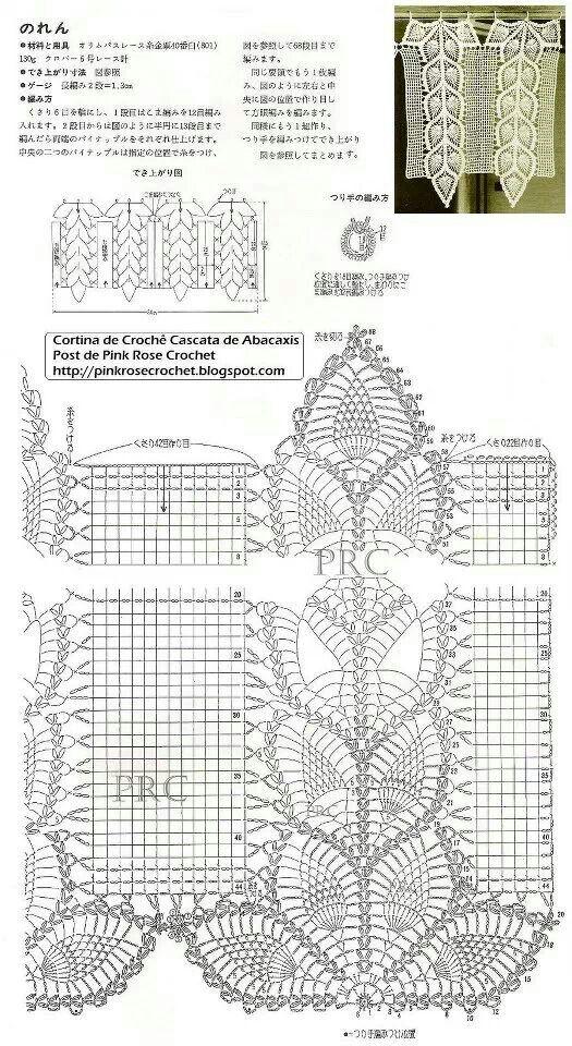 Kitchen curtain stitch crochet pattern