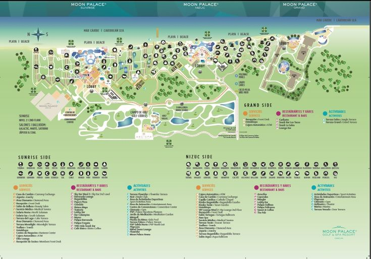 Map Of Cancun Resorts best map of the moon palace cancun resort sunset travel inc with 859 X 601