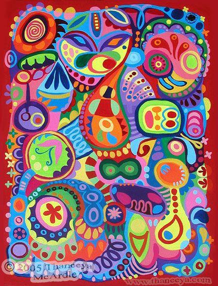 Art abstrait color d tail peintures et dessins abstraits for Abstraction geometrique peinture