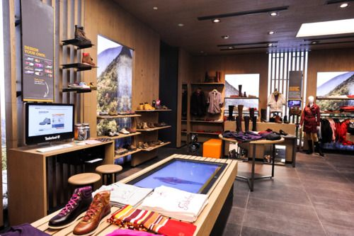 Timberland's new Flagship Store w/Touch fixture