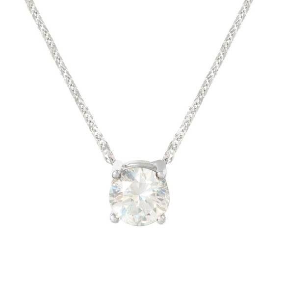 Anillo de diamantes vintage con collar insertado