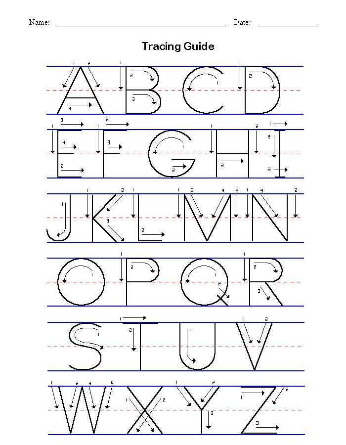 Manuscript letters that you can print out.