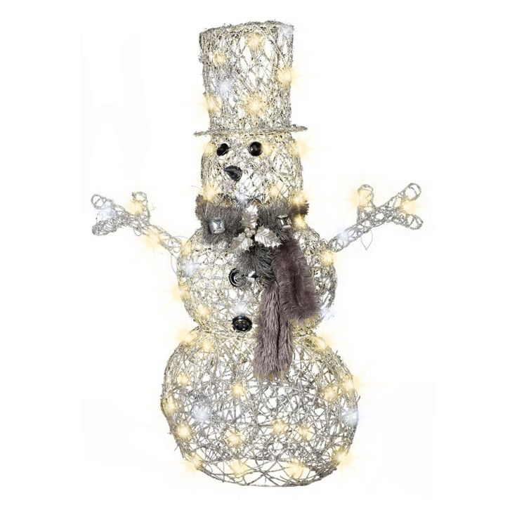 Gemmy 45 in. Frozen Fire Snowman Lighted Display - G08 36612X
