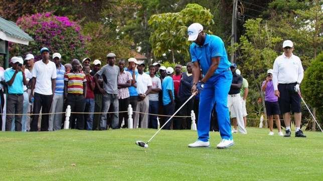 Photo News: Jay Jay Okocha Hints At New Profession Plays Pro Golf At Barclays Open in Kenya