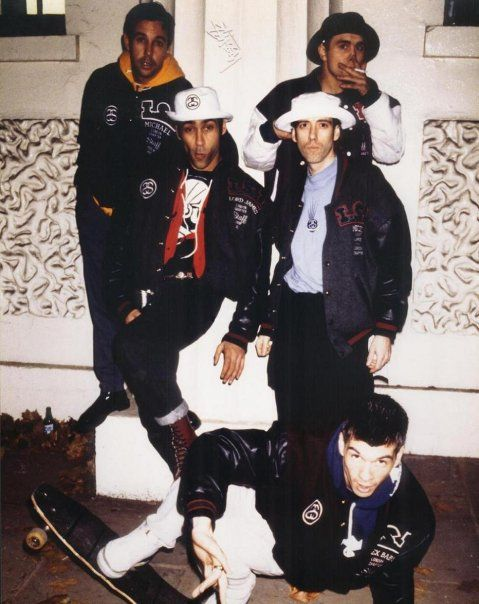 Londons Stussy Tribe 1990  -  Michael Kopelman, James Lebon, Mick Jones, Barnzley and Alex Turnbull