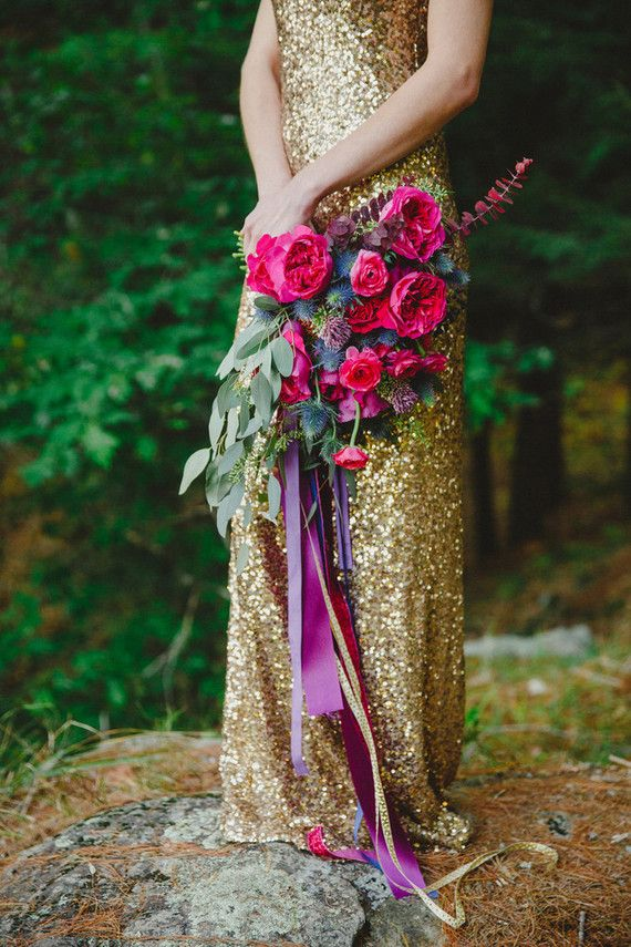 Gold wedding/bridesmaid's dress