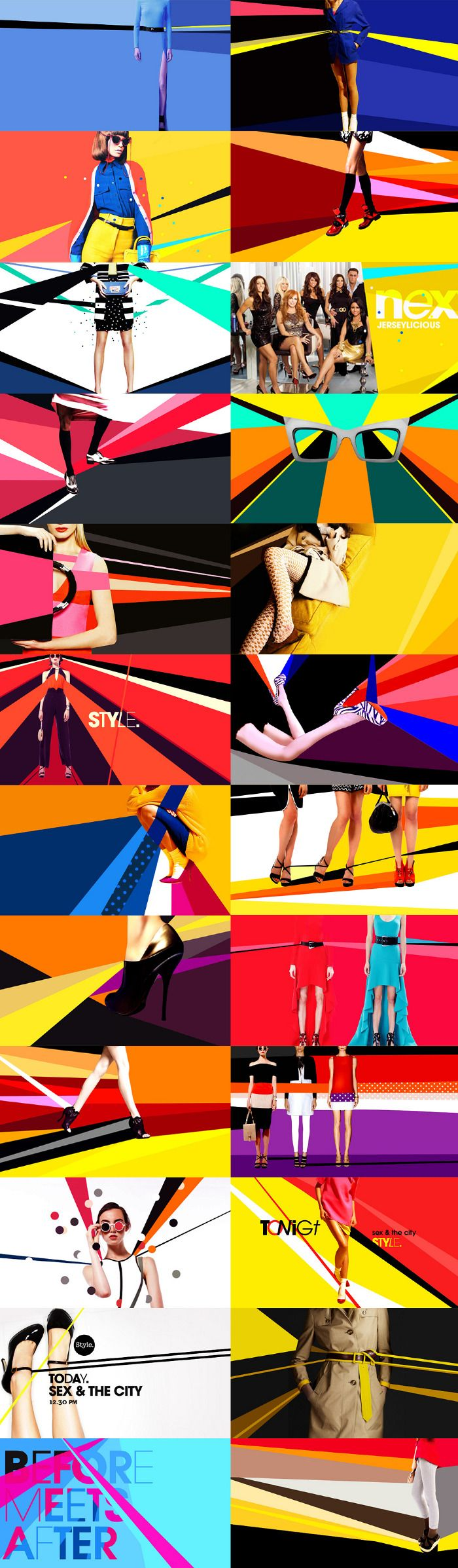 Very Graphic / Angular / Bold / Fashion /// motion graphics/ storyboards/ styleframes | STYLE NETWORK - Carolina Carballo