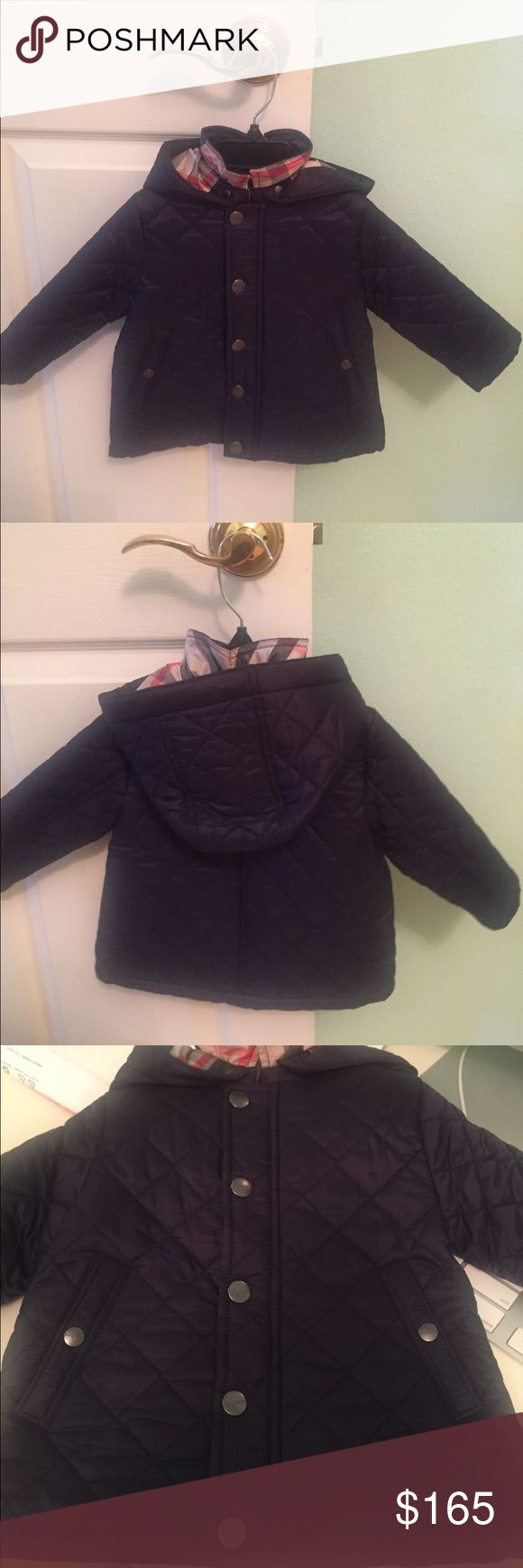 Burberry Quilted Jacket Loved by moms and loved by little ones. This is the most used Kids jacket. It's machine washable, and super soft. Keeps kids warm on cold days and a perfect jacket for late night summer. Brand New With Tags. Has detachable hoodie. burberry Jackets & Coats