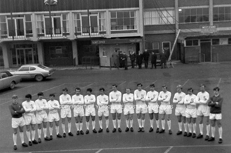 1970 Leeds United team at Elland Road. Buy prints @ http://yorkshirepost.newsprints.co.uk/search/scu/p/u/185301/1/leeds%20united%20archive Ref: Copy7441