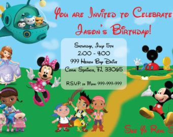 disney junior party invitations bing images july s 1st birthday