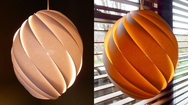 Swirl pendant lamp - how to make a spiral paper lampshade/lantern - EzyC...