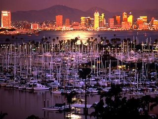 San Diego, California. San Diego harbor.