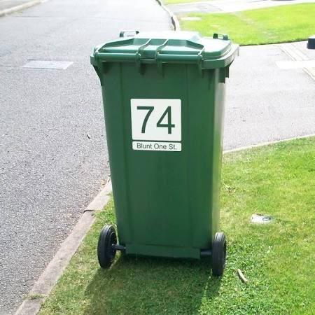 wheelie bin stickers uk - Google Search