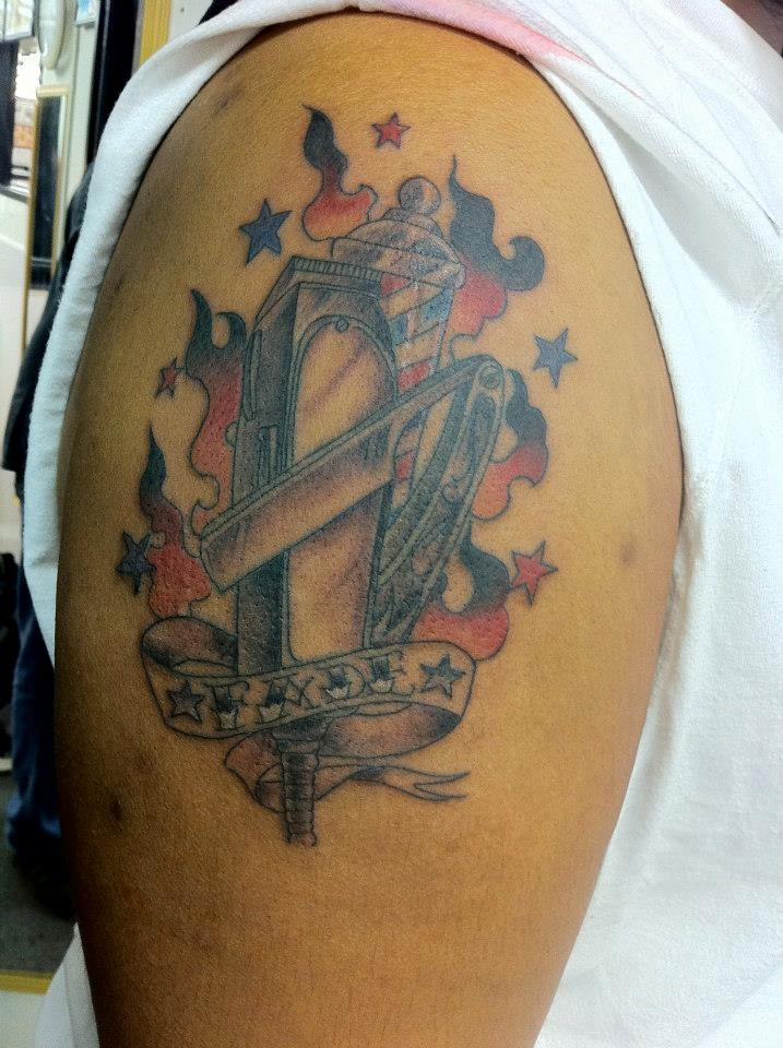 38 best images about Barber tattoo on Pinterest | First ...
