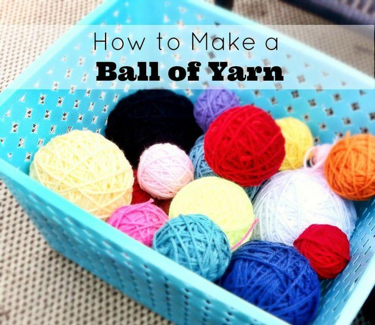 how to make ball of yarn