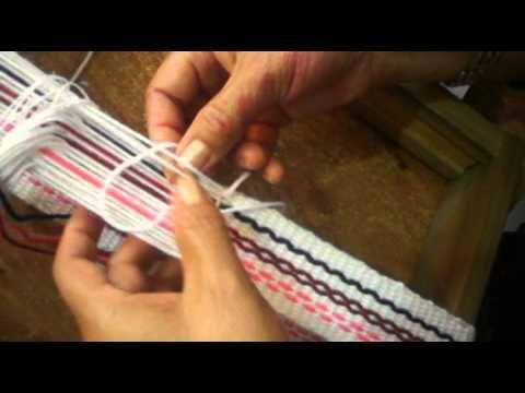 TELAR ABORIGEN - Paso 4 Definir ancho y tejer - YouTube