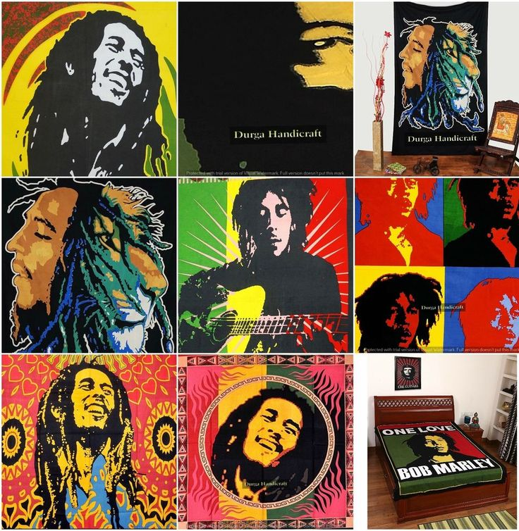 5 PC Wholesale Lot Bob Marley Tapestry,Indian Hippie Wall Hanging Bohemian Decor #Handmade #Traditional #WallHangingYogaMatTapestry