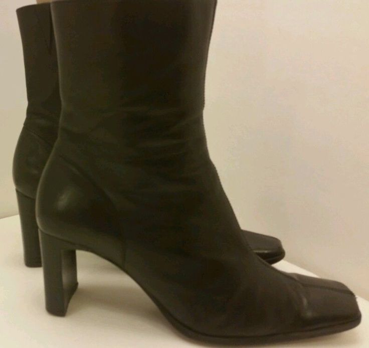 Black dress ankle boots heels