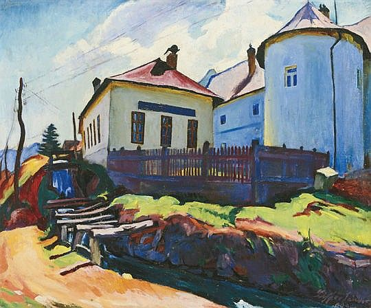 Ziffer Sándor (1880-1962) - The Building of the Mint in Baia-Mare, 1934