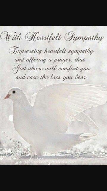 18 best With Heartfelt Sympathy images on Pinterest Condolences - condolence messages