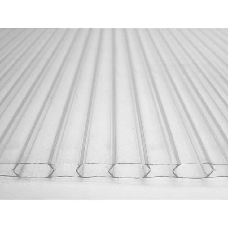 6mm Twin-Wall Polycarbonate Sheet - 4' x 8' Sheet - Growers Supply $53.30 each