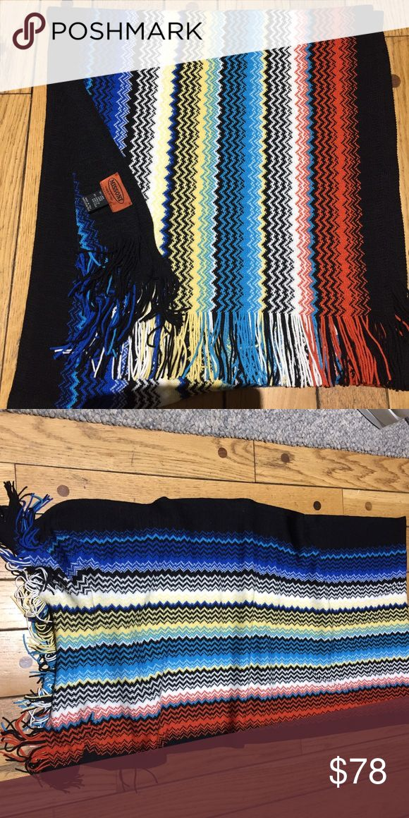 "Missoni Scarf Brand New Missoni made in Italy 50% Lana wool 50% acrylic  Brand New without tags length is about 75""  width is about 18"" Missoni Accessories Scarves & Wraps"