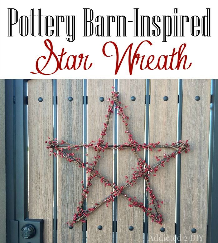 Pottery Barn-Inspired Star Wreath
