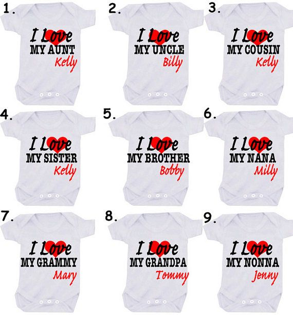 I love or Mummy designs 1 x bodysuit or 1 x T-shirt or 2 x white bibs or DESIGN YOUR OWN on Etsy, £5.99