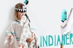 DIY // Indianer Kostüm zum Selbermachen ohne Nähen mit Free Printable - mehr auf FAMILICIOUS.de