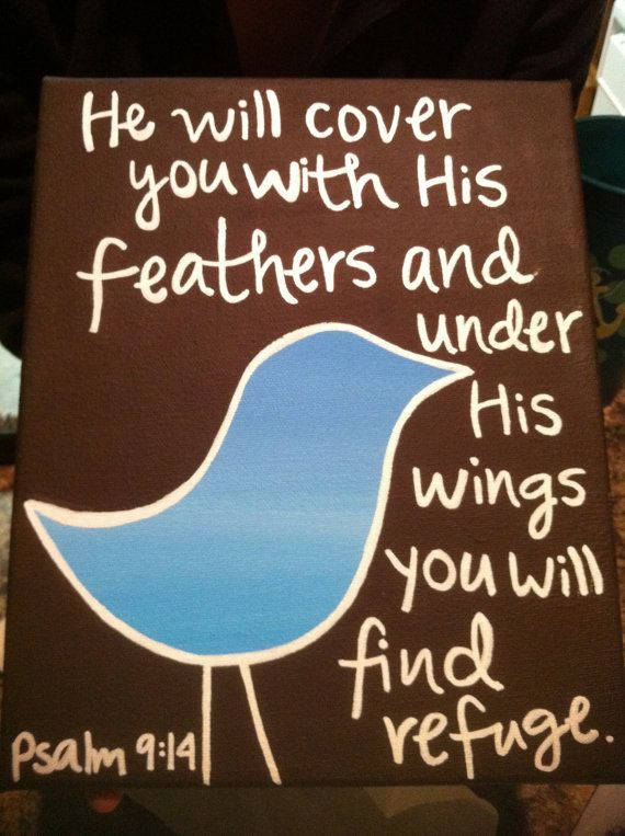 So cute: Birds Pictures, Psalms 914, Psalms 9 14, Quotes Psalms, Baby Rooms, Bible Ver, Psalms 91 4, Kids Rooms, Birds Canvas