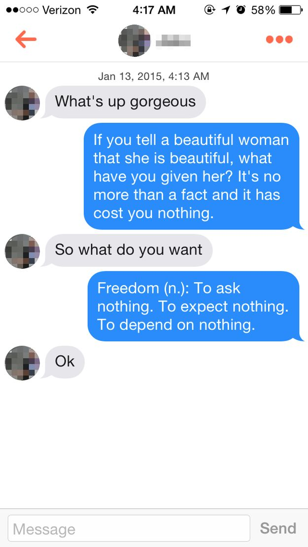 This guy was into it. | Here's What Happens When You Reply To Tinder Guys With Ayn Rand Quotes