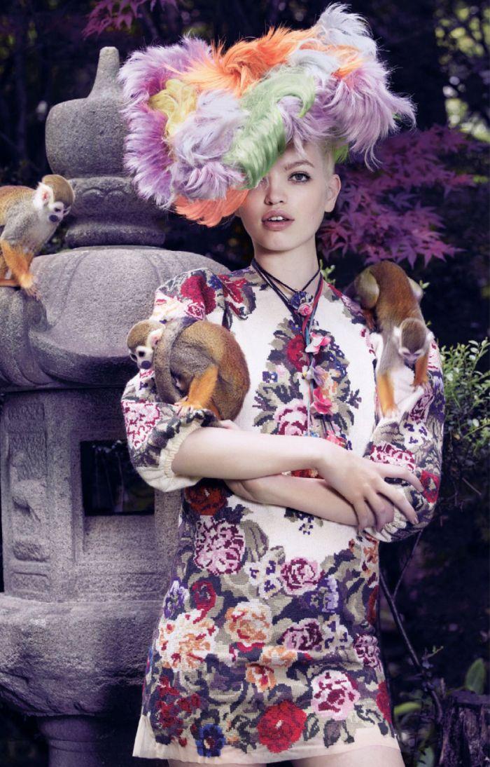 'The Secret Chatter of Golden Monkeys'   Daphne Groeneveld By Mark Segal For Vogue Japan   November2012