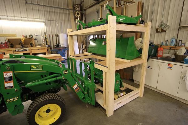 Image result for tractor attachment storage ideas