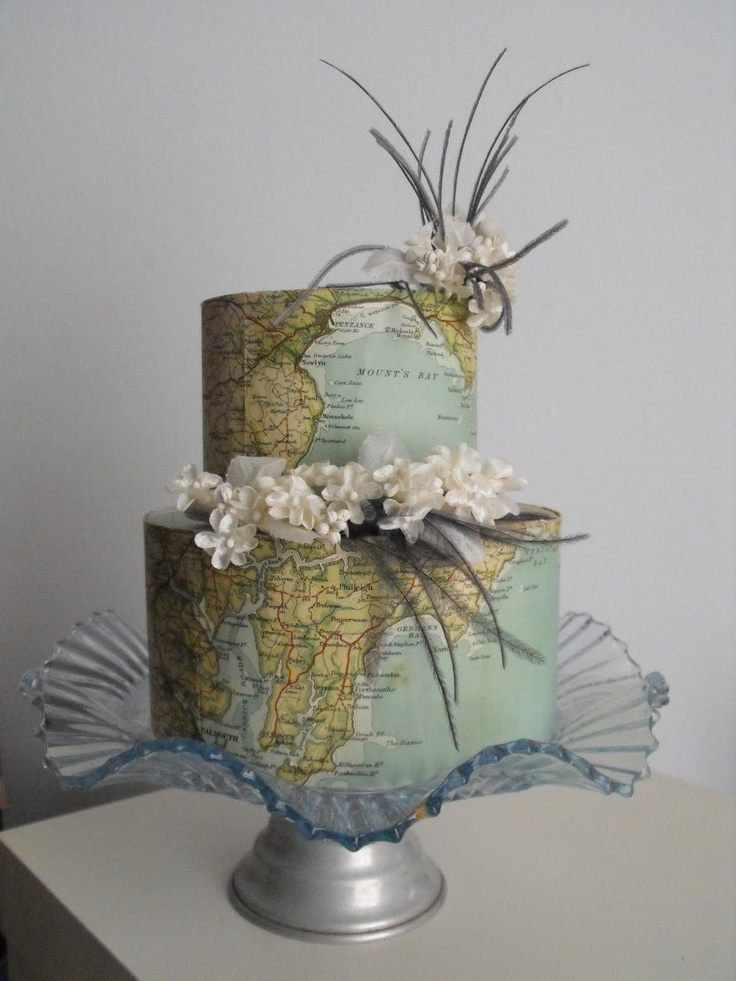 World Map Cake: Maps Cakes, Travel Theme Cakes, Amazing Cakes, Vintage Maps, World Maps, Cakes Decor, Wedding Cakes, Vintage Magpie, Fondant Cakes